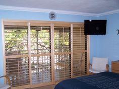 "Balcony & 32"" TV in the Master Bedroom"
