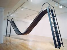 Karyn Olivier, Double Slide, Installation view at the Studio Museum in Harlem, NY, NY, 2006, steel