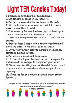 Random Acts of Kindness   ♥ Light Up the World ♥