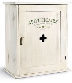 Vintage Shabby Chic Medicine Cabinet Rustic Woodland Farmhouse by ...