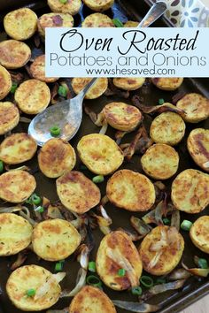 These Oven Roasted Potatoes and Onions are the perfect side for family get togethers or BBQ parties as they are SO easy and they add so much to almost any main course!
