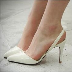 Buy 2013 pointed toe high heeled shoes japanned leather ol thin heels single shoes after the bandage cutout sandals female white from Reliable exotic pump suppliers on Jimmy Bells store.