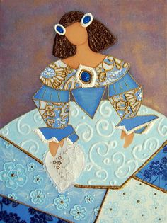 "Menina Azul: Crea tu Menina ""azul"" luego describela en un poema de 5 lineas. Usa muchos adjectivos para describirla. M. Melara"