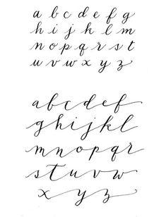 Tattoo Fonts Alphabet, Handwriting Alphabet, Cursive Alphabet, Hand Lettering Alphabet, Calligraphy Handwriting, Letters Tattoo, Calligraphy Tattoo Fonts, Abc Alphabet, Script Fonts