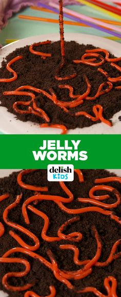 These Jelly Worms look so much like the real thing, it's creepy. Get the recipe at Delish.com.