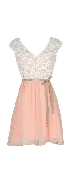 Lily Boutique Sonoma Sunset Lace Dress in Cream/Pink, $48  This dress is a dress that would be good to wear to church or any other events. It can also be used as a causal dress. :)