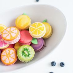 DIY fruit macarons