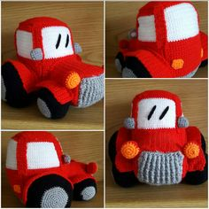 "Auftragsarbeit  ""Traktor"" 04/2017 Crochet Hats, Tractor, Knitting Hats"
