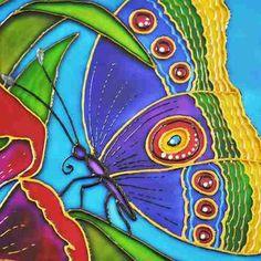Vitral Borboleta Em Vidro 16cm X 22cm Pintada À Mão. Butterfly Glass Art. Stained Glass. #bela_mandala