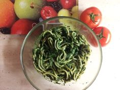 Pasta with spinach