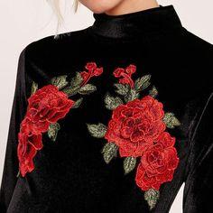 Black Vintage Rose Dress