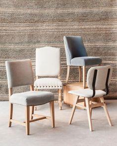 Algunas de nuestras sillas tapizadas. Consultá nuestro catálogo de sillas acá www.marabierto.com
