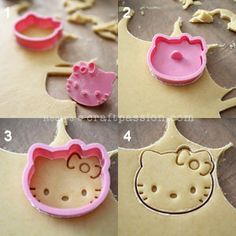 Quick & easy Hello Kitty cookie recipe to bake for all occasions. Use your favorite cartoon cookie cutter with facial stamps to elevate the cuteness. - Page 2 of 2
