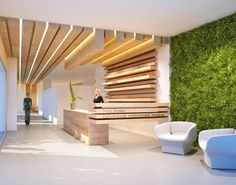 Office Interior Design is really important for your office. Because The design of the office interior will infulences the performance of your team. Office Space Design, Dental Office Design, Office Interior Design, Office Interiors, Corporate Interiors, Design Entrée, Lobby Design, Design Hotel, Design Ideas