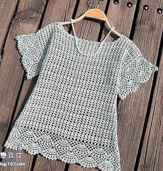 blusa de crochê verão: artesanato de Tina