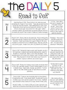 The Daily Five 20 days.good tips.especially for a younger class.older students should take only a few days to get the hang of it; agree that stopping misbehavior early is key! Daily 5 Reading, First Grade Reading, Reading Lessons, Teaching Reading, Reading Tutoring, Guided Reading Groups, Teaching Time, Teaching Ideas, 5 Am Tag