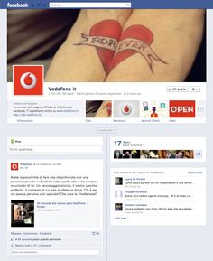 Timeline Facebook: Vodafone it