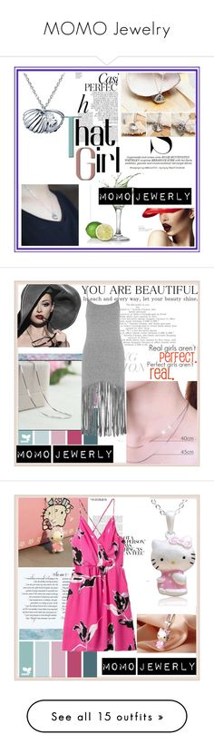 """MOMO Jewelry"" by djulovic-mirela ❤ liked on Polyvore featuring Whiteley, Topshop, Hello Kitty, MoMo, Oasis, Three Floor, AX Paris, The Great, Old Navy and Rebecca Taylor"