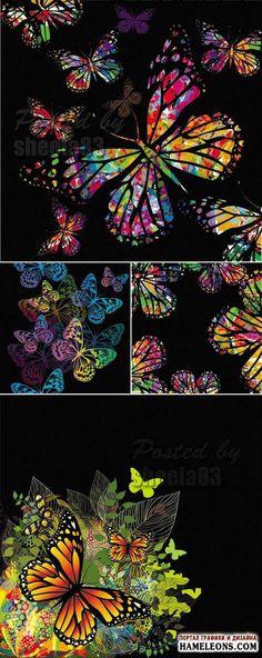 бабочка и цветок вектор - Поиск в Google