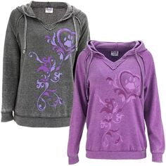 Purple Paw Burnout Pullover Hoodie : The Animal Rescue Site Crew Neck Sweatshirt, Pullover, Hooded Sweatshirts, Hoodies, Weather Wear, Fashion Face, Lounge Wear, Long Sleeve Tees, Clothes For Women