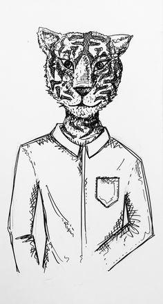 #Tigre #chemise #dessin #illustration