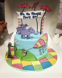 Oh, the Places You'll Go Dr. Seuss cake / sarebare85