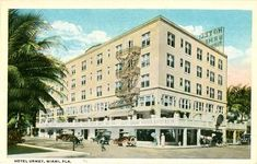 Downtown Miami, Miami Florida, Vintage Photos, Multi Story Building, Street View, Tropical, Mansions, House Styles, Cards
