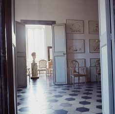 Cy Twombly's elegant and muchcopied house in Rome in 1966.