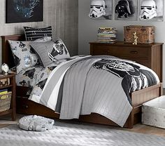 Would totally redo our bedroom this way! lol