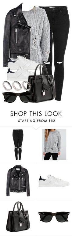 """Style #11595"" by vany-alvarado ❤ liked on Polyvore featuring Topshop, ASOS, Acne Studios, adidas Originals, Yves Saint Laurent and Ray-Ban"