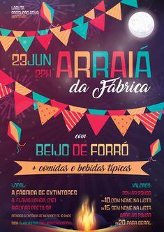 Flyer- Arraiá da Fábrica on Behance
