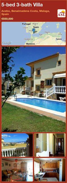5-bed 3-bath Villa in Acebo, Benalmadena Costa, Malaga, Spain ►€550,000 #PropertyForSaleInSpain