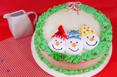 #christmas #navidad #cute #delicious #pastry #pastel #cake #cakes #white #green