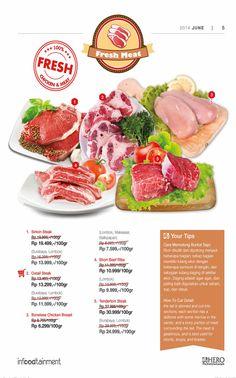 Ingin mendapatkan daging segar dengan kualitas terbaik ?  Ayo Fresh People, berbelanja di Hero Supermarket sekarang juga dan dapatkan berbagai variant Fresh Chicken & Meat favorit Anda.