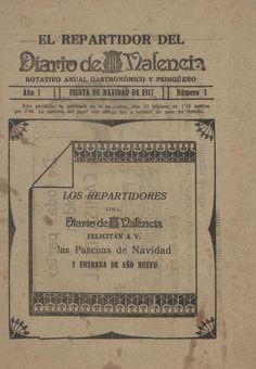 Felicitación del repartidor del Diario de Valencia, 1917
