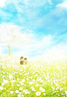 들어봐. 내가 지금 이렇게 행복한 건 하늘이 푸르고 햇살이 따뜻하고 봄바람에 실려오는 꽃들의 미소도 아름답지만, 지금 내 옆에 네가 있기 때문이야. 유지별이 x 제인해일 오늘이 우리를 기억해 COLLABORATION *** 아직 민들레가 필 시기는 아니지만, 산들바람이 불어오는 곳에서 오냐와 제인,해일이의 웃는 모습이 보고싶어서 이렇게 그렸습니다ㅎㅎ 아름다운 일상의 추억을 찍으시는 제인해일 작가님 덕분에, 매번 따뜻한 미소 짓곤 했습니다. 항상 좋은 작품 감사드립니다:)