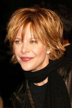 meg ryan hairstyles pictures | Meg Ryan with her signature shag haircut