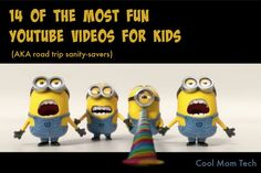 Heading on a holiday road trip? Load up these 14 fun YouTube videos to keep the kids entertained.