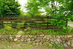 ウッドフェンス   安藤造園   雑木と山野草、自然風の庭 (長野県上田市)