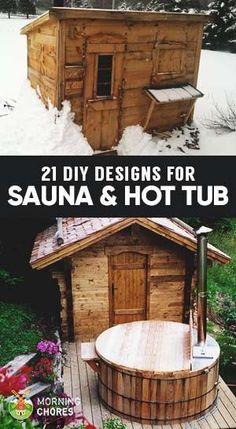 21 Inexpensive Sauna and Wood-Burning Hot Tub Design Ideas