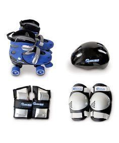 Chicago Skates Blue Quad Combo Roller Skate & Helmet Set - Kids | zulily