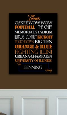Yeah, I think I NEED this!!!! (Illini Standout by SportingStandouts on Etsy, $60.00)