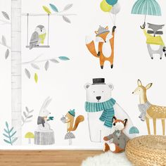 Woodland Kit Fabric Wall Decal by ShopMejMej