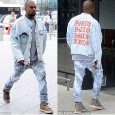 Kanye Pablo merch Denim yeezy 750