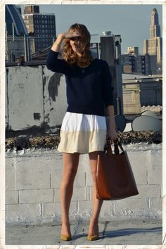 Color blocking neutrals
