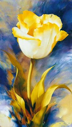 Igor Levashov Flowers Painting Artwork