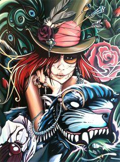 Sugar skull.art.♥ by Cay Broendum ♥