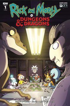Rick and Morty vs Dungeons and Dragons CJ Cannon Variant Dungeons And Dragons, Rick And Morty, Cover, Nerd, Comic Books, Cartoon, Comics, Anime, Rpg
