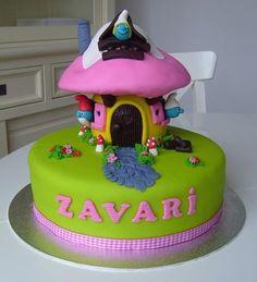smurf cake! droomtaart