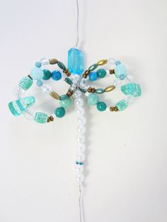 beaded screen saver bug insect dragonfly butterfly by tanyagrub, $14.00